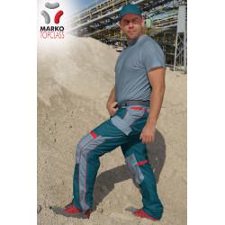 Pracovní kalhoty do pásku, azurové, řada TOP CLASS