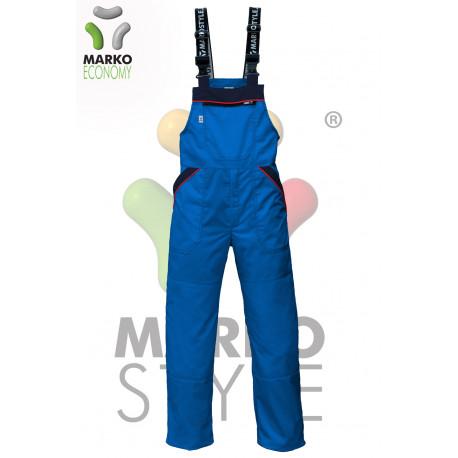 Kalhoty s laclem, azurové, řada ECONOMY