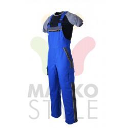 Pracovní kalhoty s laclem, modré