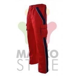 Pracovní kalhoty do pasu, červené