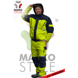 Reflexní pracovní zimní bunda, žlutá/oranžová, řada TOP CLASS - na zakázku!