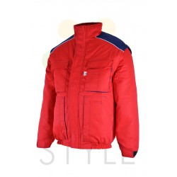 Pracovní bunda zimní, červená