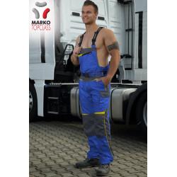 Pracovní kalhoty s laclem, modré, řada TOP CLASS