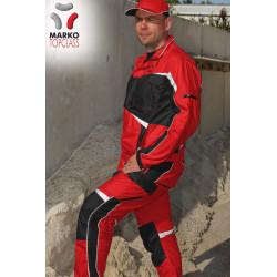 Pracovní bunda letní, červená, řada TOP CLASS