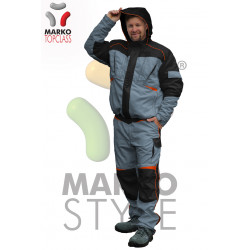 Pracovní zimní bunda s kapucí, azurová, řada TOP CLASS