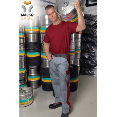 Kalhoty do pásku, vínové, řada BASIC